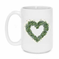 Кружка 420ml Lilies of the valley in the shape of a heart