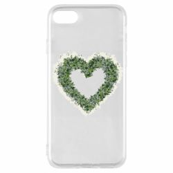 Чехол для iPhone 7 Lilies of the valley in the shape of a heart