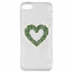 Чехол для iPhone5/5S/SE Lilies of the valley in the shape of a heart