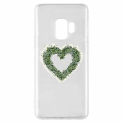 Чехол для Samsung S9 Lilies of the valley in the shape of a heart