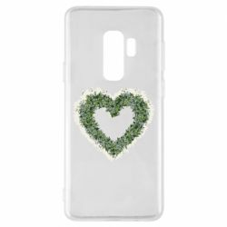 Чехол для Samsung S9+ Lilies of the valley in the shape of a heart