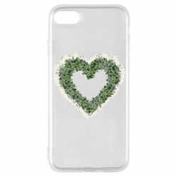 Чехол для iPhone 8 Lilies of the valley in the shape of a heart