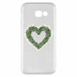 Чехол для Samsung A5 2017 Lilies of the valley in the shape of a heart