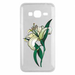 Чохол для Samsung J3 2016 Lily flower