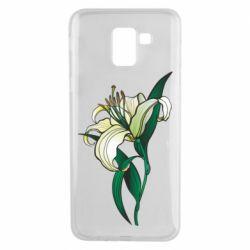 Чохол для Samsung J6 Lily flower