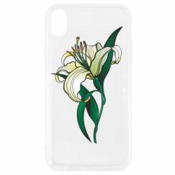 Чохол для iPhone XR Lily flower