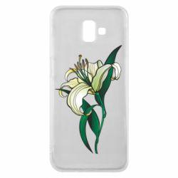 Чохол для Samsung J6 Plus 2018 Lily flower