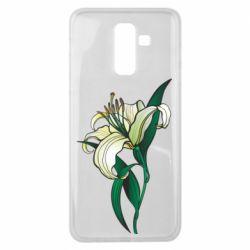 Чохол для Samsung J8 2018 Lily flower