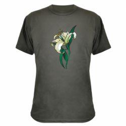 Камуфляжна футболка Lily flower