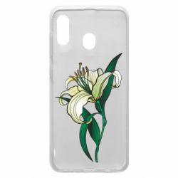 Чохол для Samsung A20 Lily flower