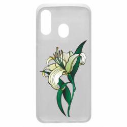 Чохол для Samsung A40 Lily flower