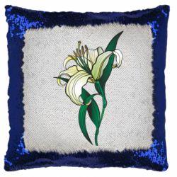 Подушка-хамелеон Lily flower