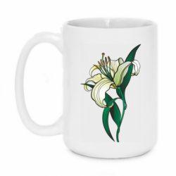 Кружка 420ml Lily flower