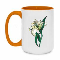 Кружка двоколірна 420ml Lily flower