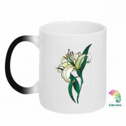 Кружка-хамелеон Lily flower