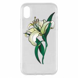 Чохол для iPhone X/Xs Lily flower