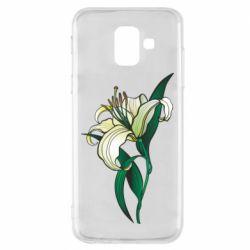 Чохол для Samsung A6 2018 Lily flower