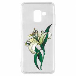 Чохол для Samsung A8 2018 Lily flower