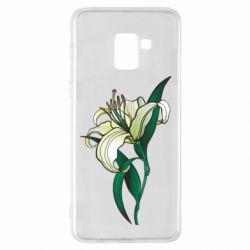 Чохол для Samsung A8+ 2018 Lily flower