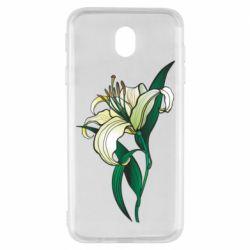 Чохол для Samsung J7 2017 Lily flower