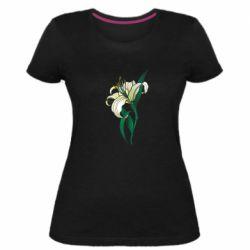 Жіноча стрейчева футболка Lily flower