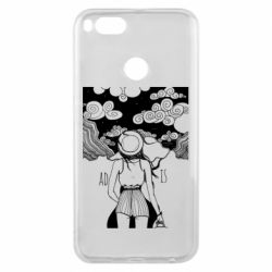 Чехол для Xiaomi Mi A1 Line art The road is calling