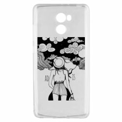 Чехол для Xiaomi Redmi 4 Line art The road is calling