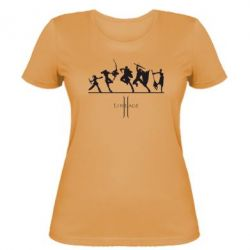 Женская футболка Lineage fight - FatLine
