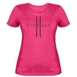 Женская футболка Lineage ll - FatLine