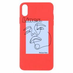 Чохол для iPhone Xs Max Lines art find your face