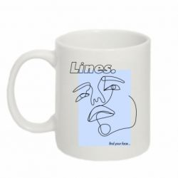Кружка 320ml Lines art find your face