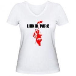 Женская футболка с V-образным вырезом Linkin Park Album