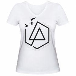 Жіноча футболка з V-подібним вирізом Linkin park Until It's Gone