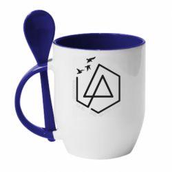 Кружка з керамічною ложкою Linkin park Until It's Gone