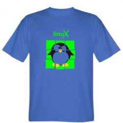Мужская футболка Linux pinguine - FatLine