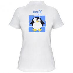 Женская футболка поло Linux pinguine - FatLine