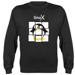 Реглан (свитшот) Linux pinguine - FatLine