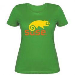 Женская футболка Linux Suse