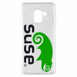 Чехол для Samsung A8 2018 Linux Suse