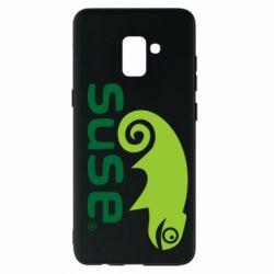 Чехол для Samsung A8+ 2018 Linux Suse