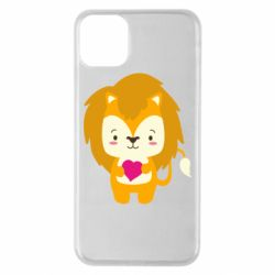 Чехол для iPhone 11 Pro Max Lion and beautiful heart
