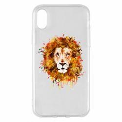 Чохол для iPhone X Lion Art - FatLine