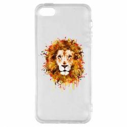 Чохол для iphone 5/5S/SE Lion Art - FatLine