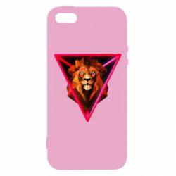 Чохол для iphone 5/5S/SE Lion art