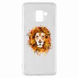 Чохол для Samsung A8+ 2018 Lion Art - FatLine