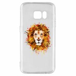 Чохол для Samsung S7 Lion Art - FatLine