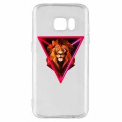Чохол для Samsung S7 Lion art