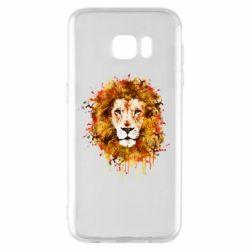 Чохол для Samsung S7 EDGE Lion Art - FatLine