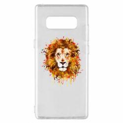 Чохол для Samsung Note 8 Lion Art - FatLine