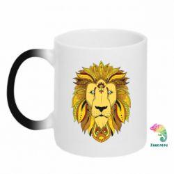 Кружка-хамелеон Lion art